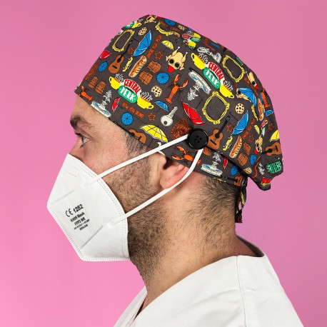 Short Hair Surgical Cap with buttons...