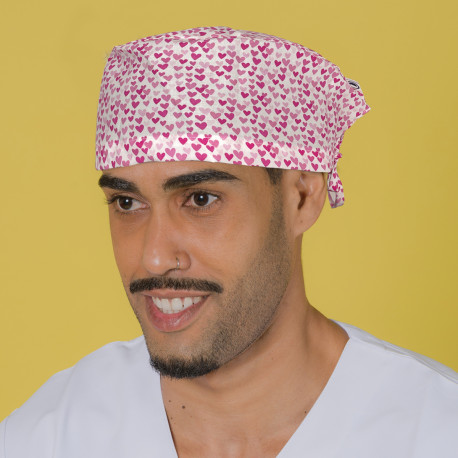 Short hair surgical cap - Hearts over...