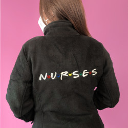 Woman Black Jacket Fleece -...