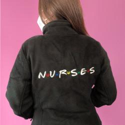 Woman Black Jacket Fleece