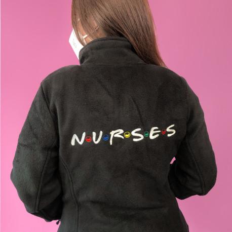 Woman Black Jacket Fleece - N·U·R·S·E·S
