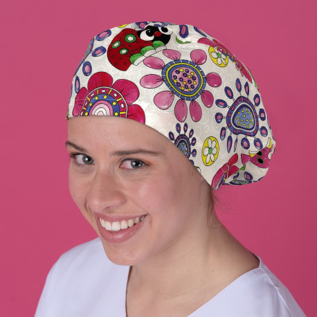 Long Hair Surgical Cap - Insects