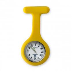 Reloj silicona enfermera - amarillo