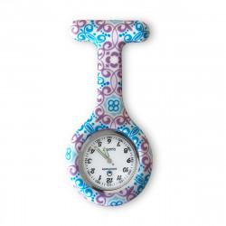 Nurses silicone watch - Blue Cachemire