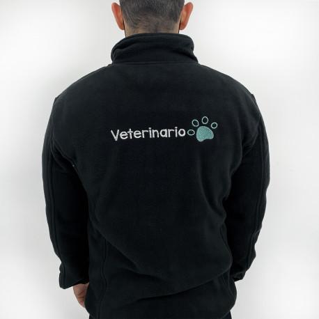 Polar Fleece black customized for Men
