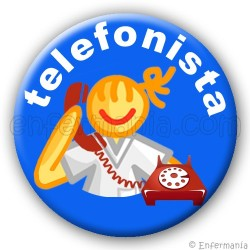 Blech Telefonistin