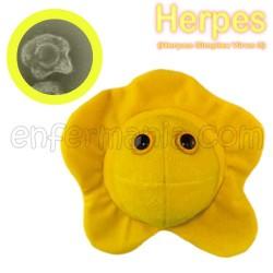 Microbe Géant en peluche - le Simplex d'Herpès (herpès)