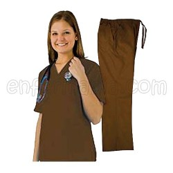 Natural Uniform Scrubs - Unisex - Chocolate