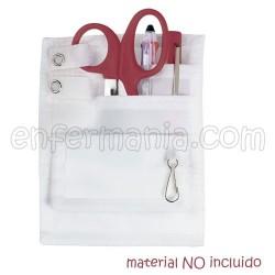 Organizer - tasche- Nylon - Weiß
