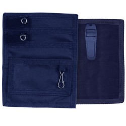 Organizer pocket with clip - navy Blue
