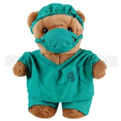 Teddy bear plush - pajama-green