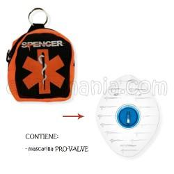Maschera CPR Pro - Valvola con portachiavi zaino
