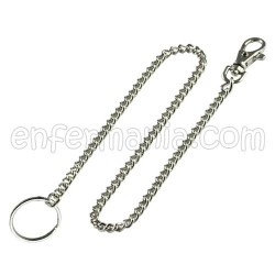Porta tijeras cadena metalico