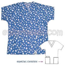 Top - Enfermania *PREMIUM* - Print Caps - BLUE