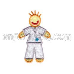 Patche textil termoadhesivo - Chico - Blanco