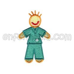 Patche textil heißschmelzkleber - Jungen - Grün