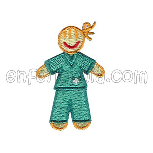 Patche textil termoadhesivo - Chica - Verde
