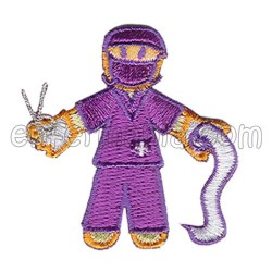 Patche têxtil termoadhesivo - Quiru - Violeta