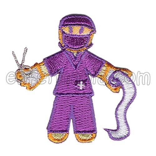 Patche textil termoadhesivo - Quiru - Violeta