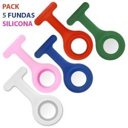 Pack 5 fundas silicona colores