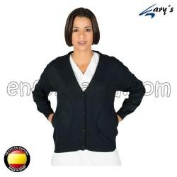 Jacket in fine knit - navy
