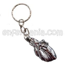 Métal porte-clés Coeur