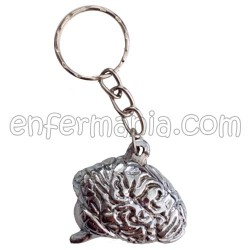 Keychain metal Brain