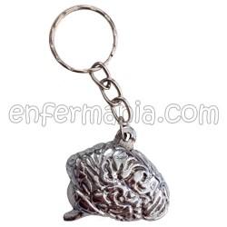 Portachiavi in metallo Cervello