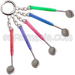 Schlüsselanhänger Spiegel Dental - farben