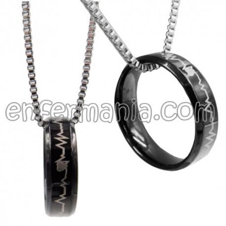 Colgante masculino - anillo EKG