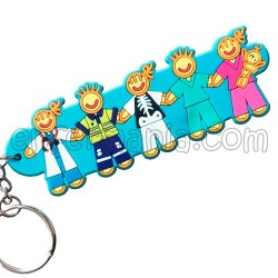 Keyring double sided - Nurse - Pink