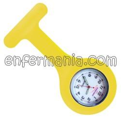 Relógio silicone Enfermania - Amarelo ovo