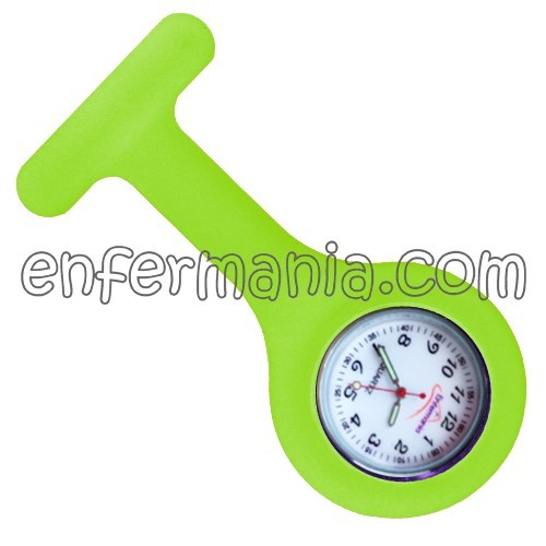 Rellotge de silicona Enfermania - Verd Fluor