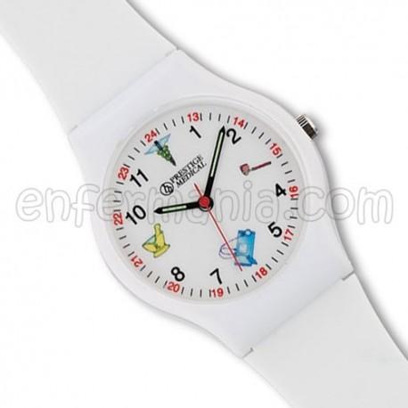 Reloj pulsera blanco - Medical Symbols