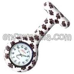 Rellotge de silicona Enfermania - Petjades B/N