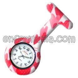 Relógio silicone Enfermania - Morango