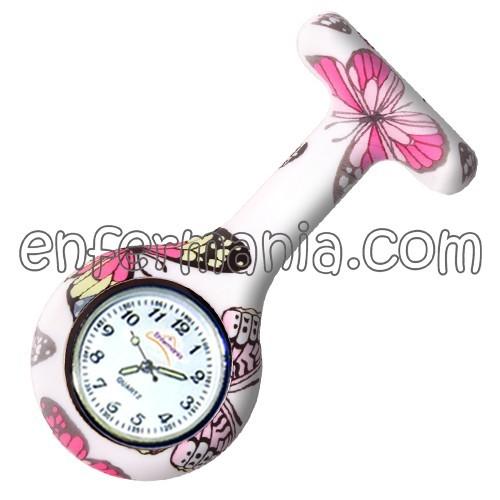 Relógio silicone Enfermania - Butterfly