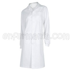 White coat, woman