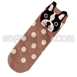 Socken Von French Bulldog - Beige