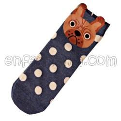 Socken Von French Bulldog - Blau