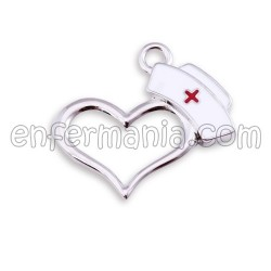 Anhänger / Perlen - Herz-Krankenschwester