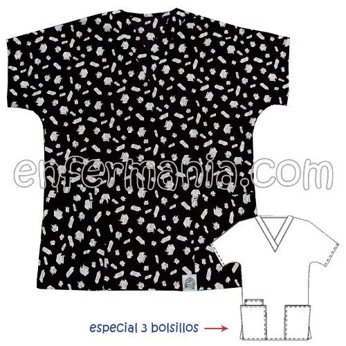 Bluson - Enfermania *PREMIUM*- Stampaggio Caps - NERO
