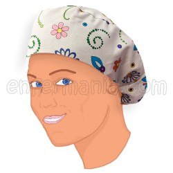 Gorro bouffant pelo largo - Garden Pop