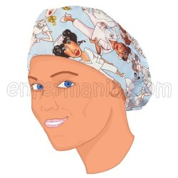 Cap bouffant cheveux-long - Bleu Infirmières