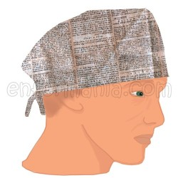 Gorro casquete - Antique Book