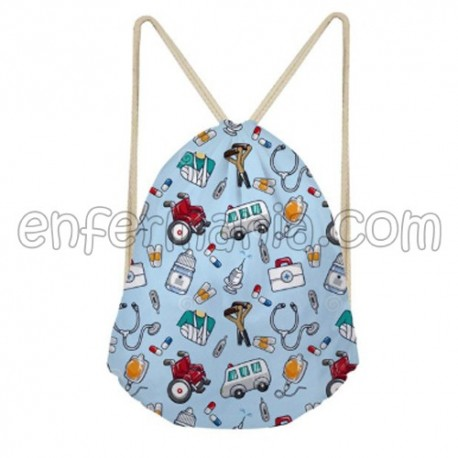 Bolso-Mochila Impermeable - Azul Pictures