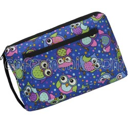 Carrying case multi - purpose- Owls - Blue