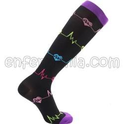 Socken kompression - EKG - SCHWARZ
