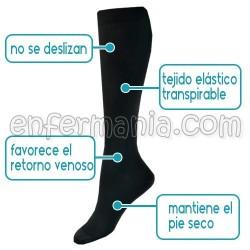 Calcetines compresión- EKG- NEGRO