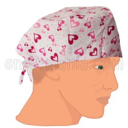 Mütze kalotte - Pink Hearts